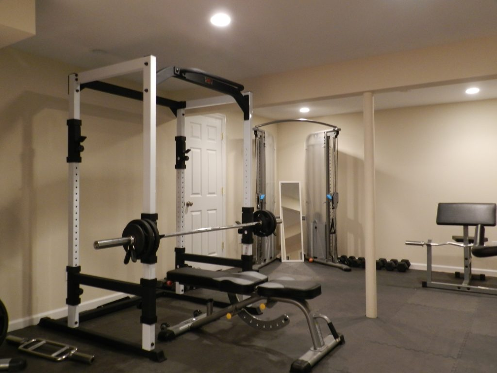 Basement converted to a gym, White Plains, NY