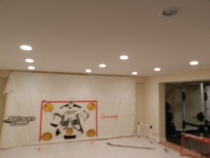 Basement converted to a hockey rink, White Plains, NY