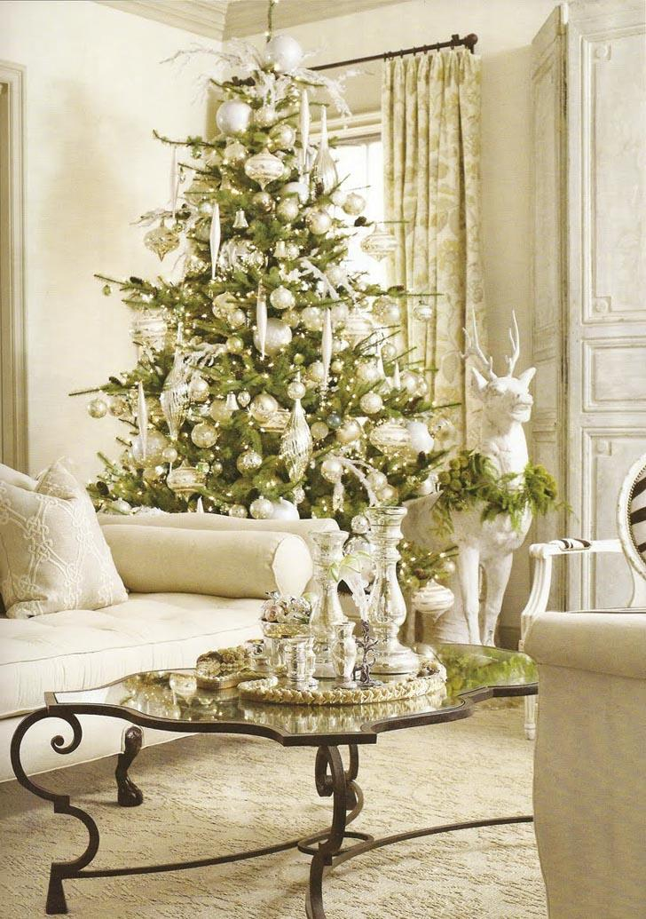 How to decorate for the holidays with a theme bruzzese for Xmas living room ideas
