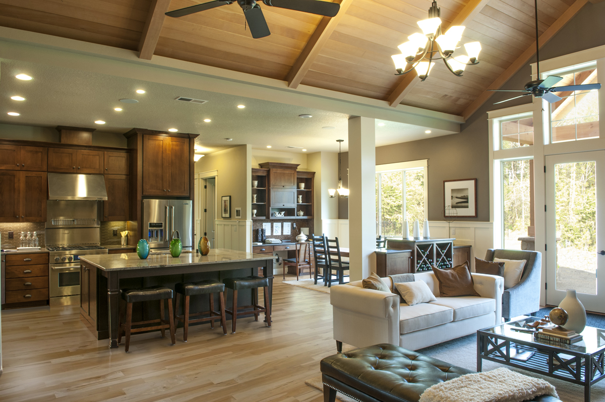 5 reasons to hire a home plan remodeling specialist early for Open floor plans with vaulted ceilings