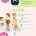 Deaf-friendly games for a children's party-infographic