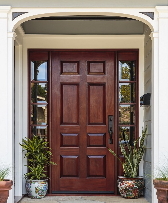 Solid timber entrance doors