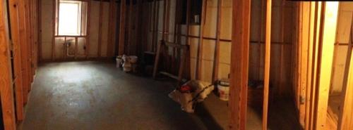 basement remodel before