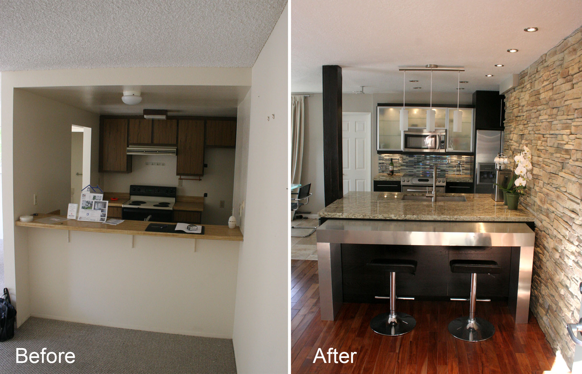 Diy Small Kitchen Refacing Cost Before After